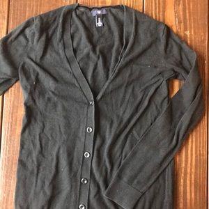 Black Gap Button Down Cardigan Sweater